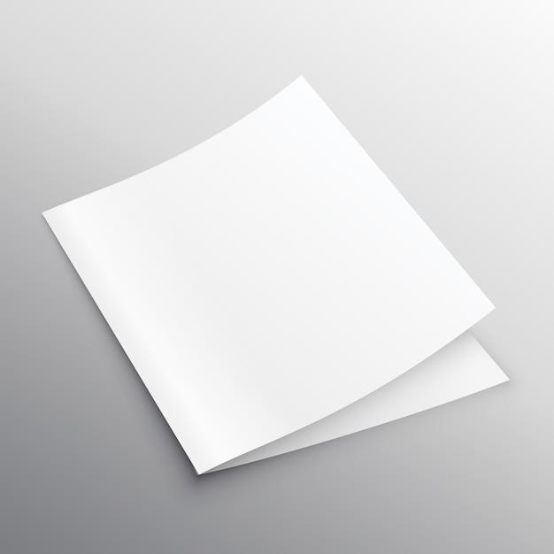 blank mockup bi fold or book template design vector premium download. Black Bedroom Furniture Sets. Home Design Ideas