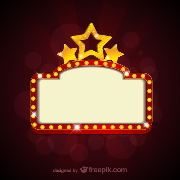 Blank Movie Theater Sign Free Vector