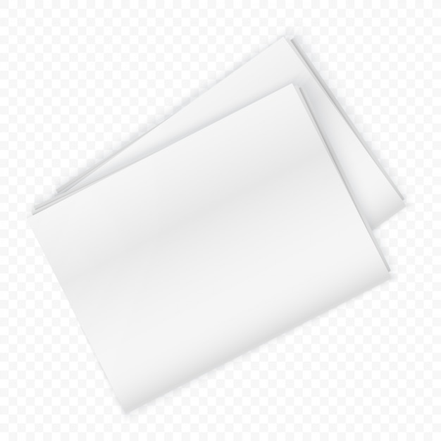 Blank newspaper mockup isolated Premium Vector