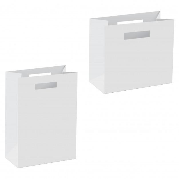 blank of paper bag template vector premium download