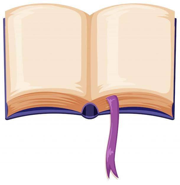 A blank open book Free Vector