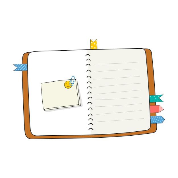 Blank open journal Free Vector