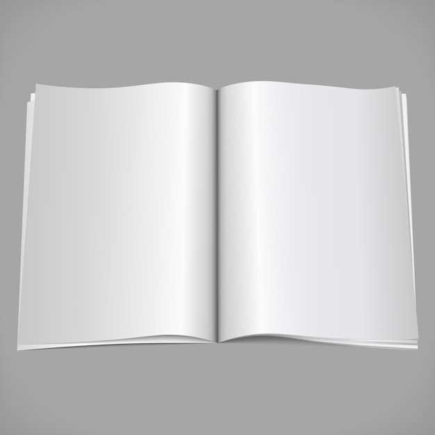 Blank open magazine Premium Vector