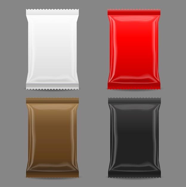 Blank packaging mock up Premium Vector