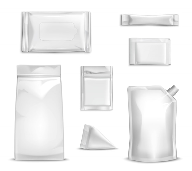 Blank packaging set Free Vector
