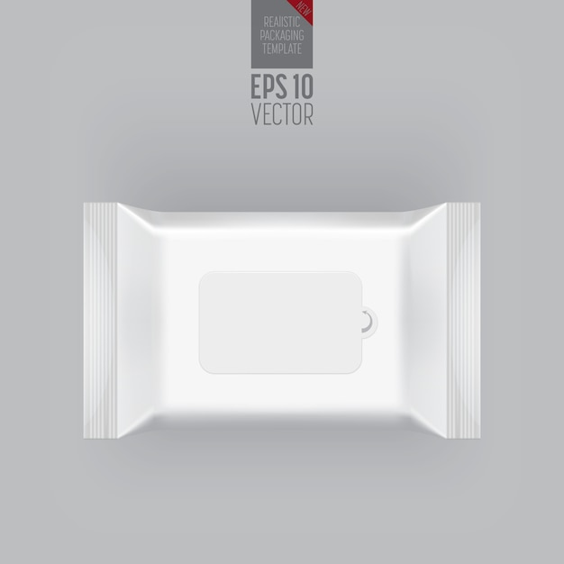 Blank packaging template isolated on grey. Premium Vector