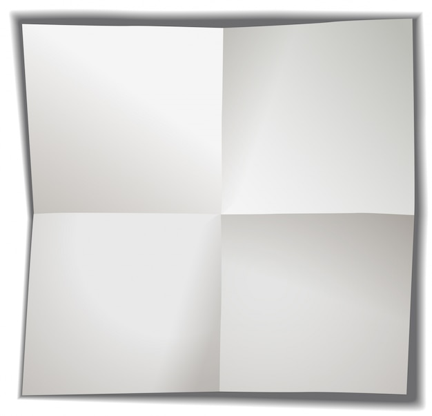 Blank paper folded in four Free Vector