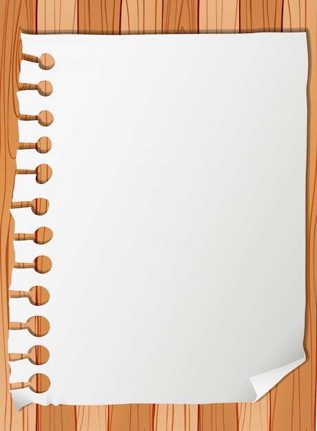 Blank paper note template Free Vector