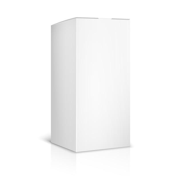 白地に白紙または段ボール箱のテンプレート。コンテナとパッケージ。ベクトルイラスト 無料ベクター