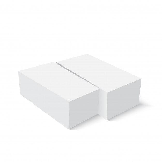 blank paper or cardboard box template vector premium download