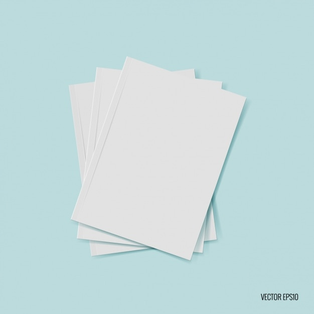 Blank paper sheet stack Free Vector