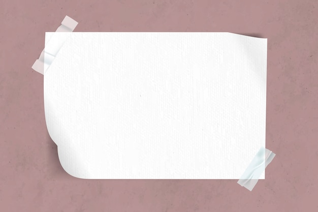 Blank paper taped Free Vector