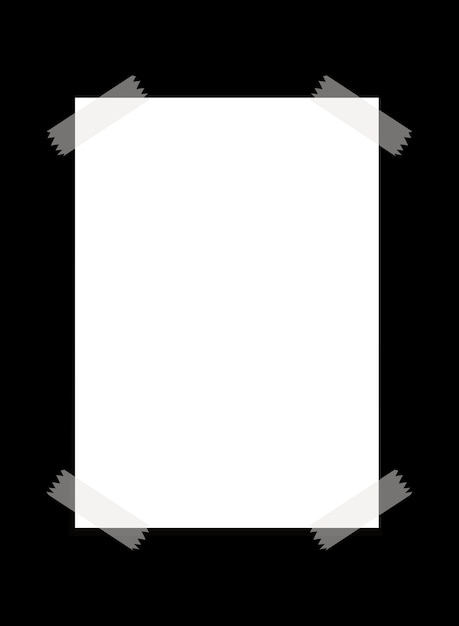 a blank paper with transparent tape  premium vector