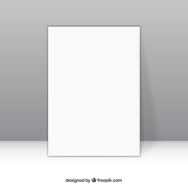 Blank Paper Vector Free Download