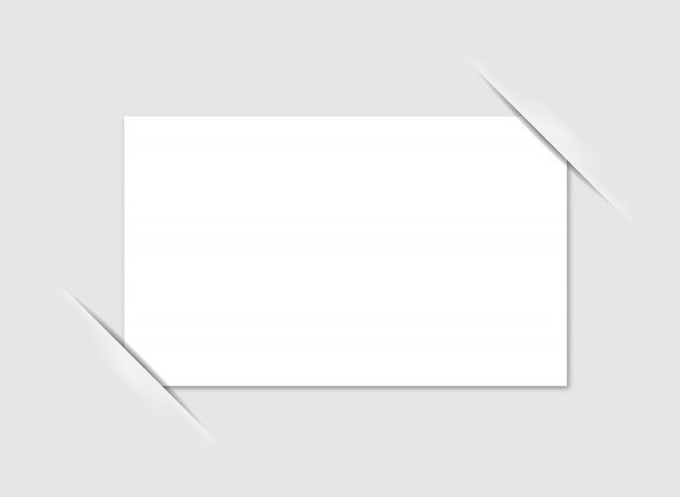 Blank photo frame corners. vector. Premium Vector