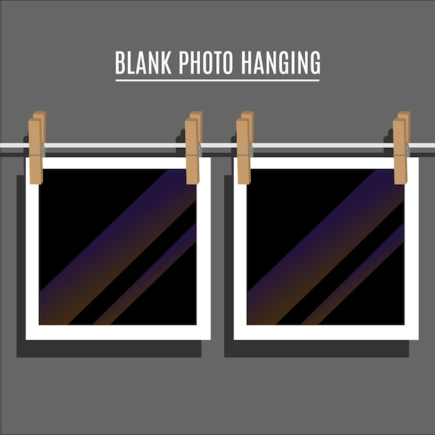 Blank photo hanging Free Vector