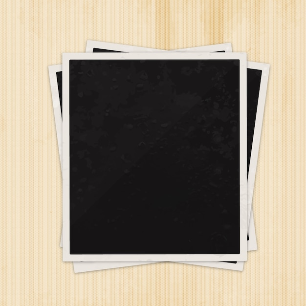 Blank photography frame Free Vector