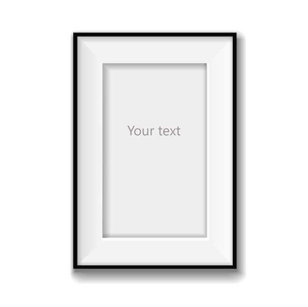Blank picture frame vector isolated. vector illustration Premium Vector