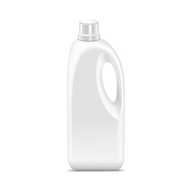 分離された空白のプラスチックジェリカンキャニスターガロンオイルクレンザー洗剤洗剤 Premiumベクター