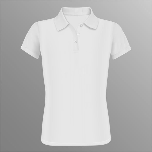 Blank polo shirt. white vector isolated template Premium Vector