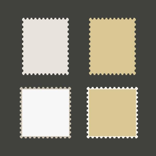 Blank postage stamps vector Premium Vector