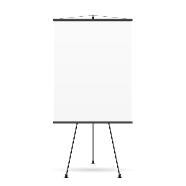 Пустой экран презентации. белая доска для бизнеса, пустая бумага, Бесплатные векторы