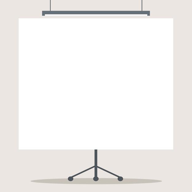 Blank projector screen Premium Vector