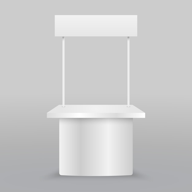 Blank promotion counter. retail trade stand isolated Premium Vector