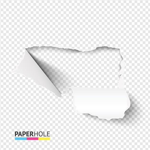 Пустой баннер с рваным краем и рваной бумагой с изогнутыми кусками картона Premium векторы