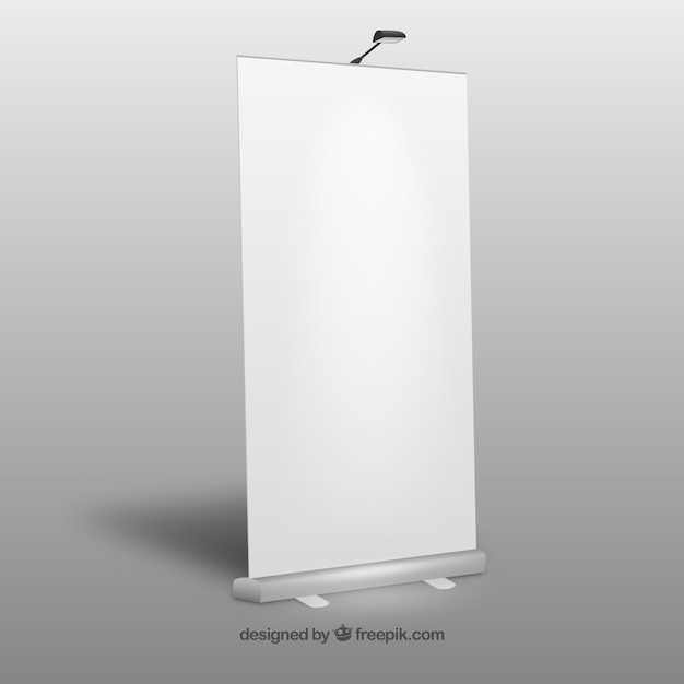 Blank roll up banner Premium Vector