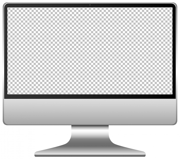 Blank screen computer icon isolated on white background Free Vector