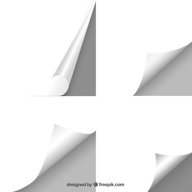 Blank sheets of paper Free Vector