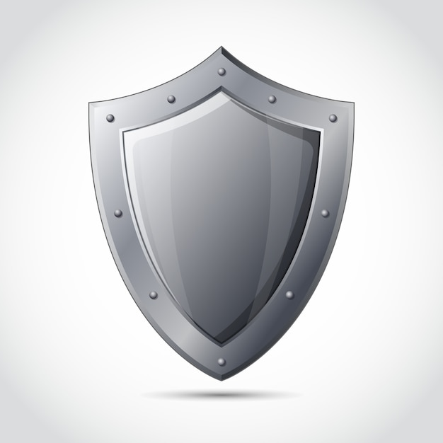 Blank shield business protection emblem Free Vector