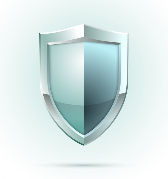 Blank shield security icon Free Vector