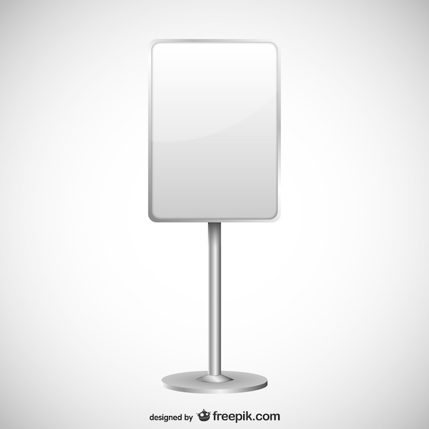 Blank sign Free Vector
