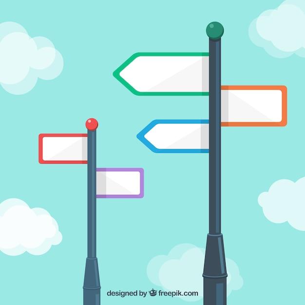 Blank signpost Free Vector