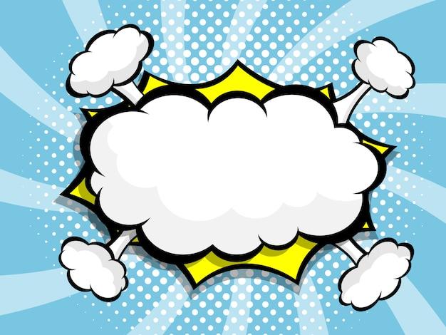 Blank speech bubble pop art, comic book. Premium Vector