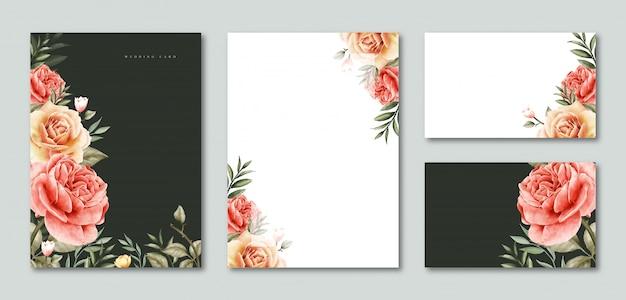 premium vector  blank template wedding invitation and