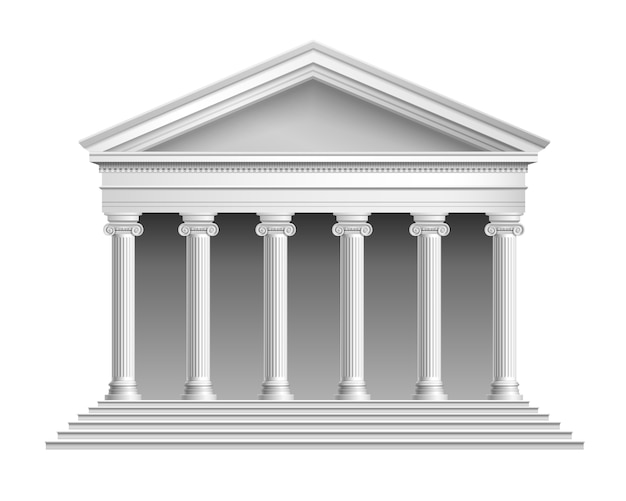 Blank temple with colonnade Premium Vector
