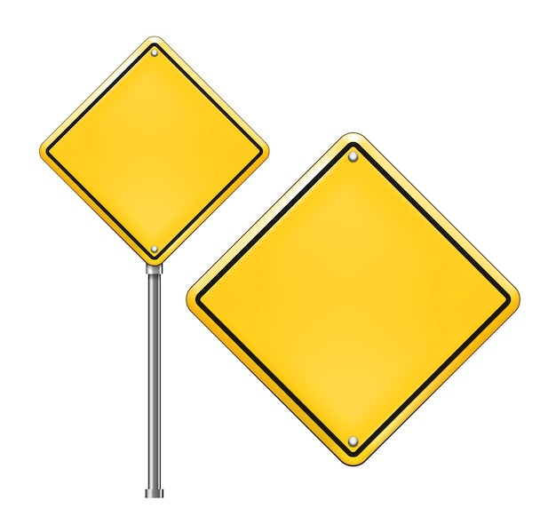 Blank traffic signs Free Vector