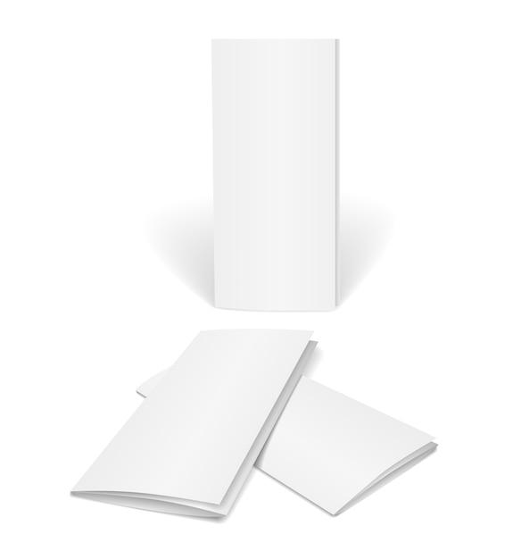 白の孤立した空白のベクトルパンフレット 無料ベクター