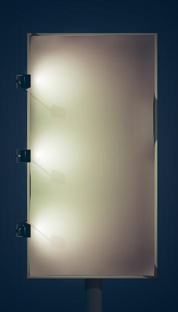 空白の垂直看板 無料ベクター