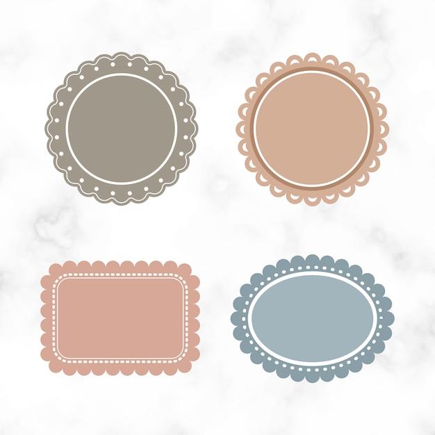 Blank vintage labels Free Vector