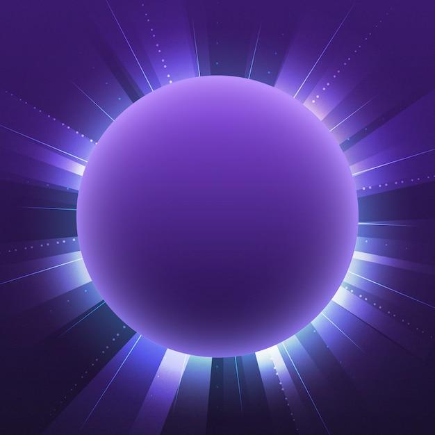 Blank violet circle neon signboard vector Free Vector
