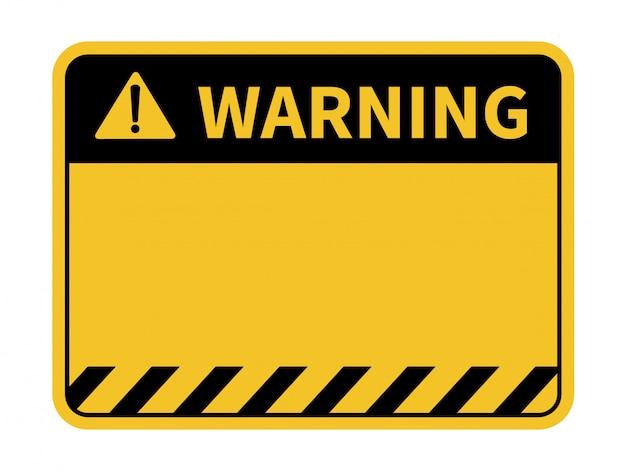 Blank warning sign. Premium Vector