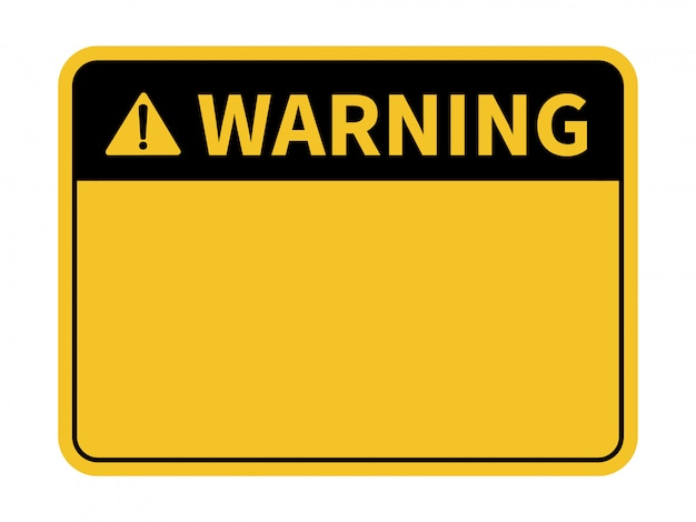 Blank warning sign. Premium Vector