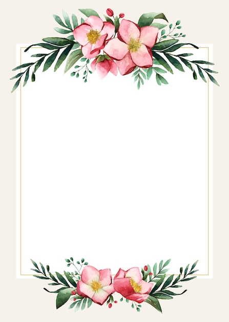 Wedding Flower Border Card | Card Design |Flower Border Designs For Wedding Cards