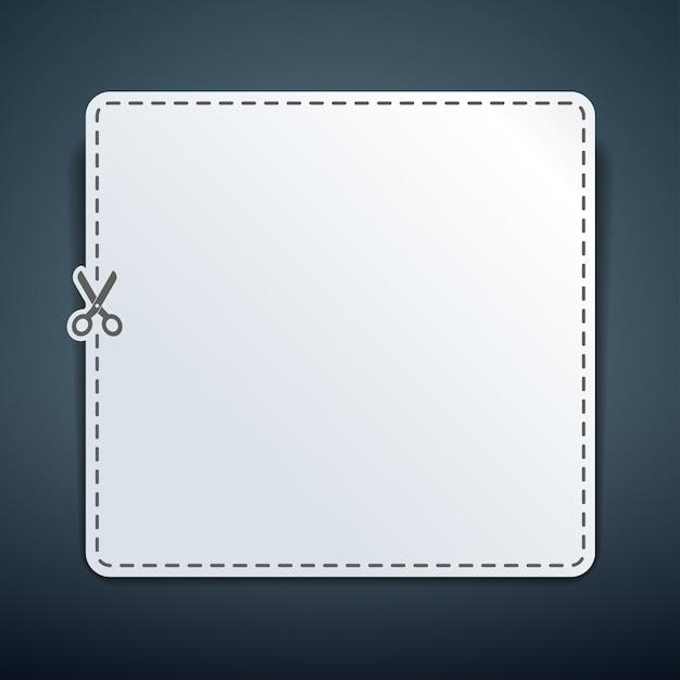 Пустой белый рекламный купон Premium векторы