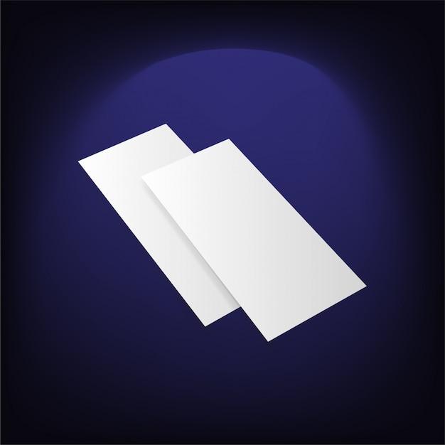 Пустой белый складной бумажный слой Premium векторы
