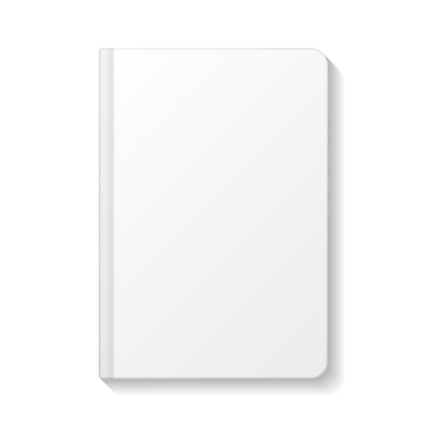 Пустой белый ноутбук закругленные края вид сверху шаблон. Premium векторы